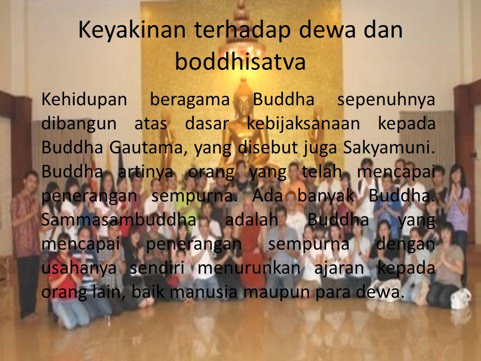 Keyakinan terhadap dewa dan boddhisatva