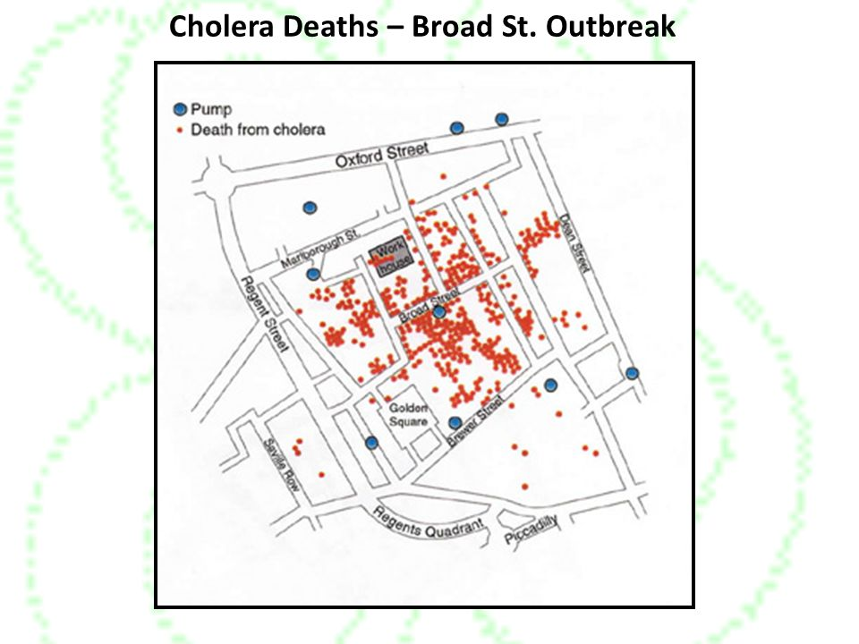 Cholera Deaths – Broad St. Outbreak