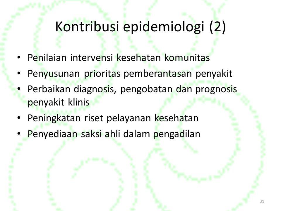 Kontribusi epidemiologi (2)