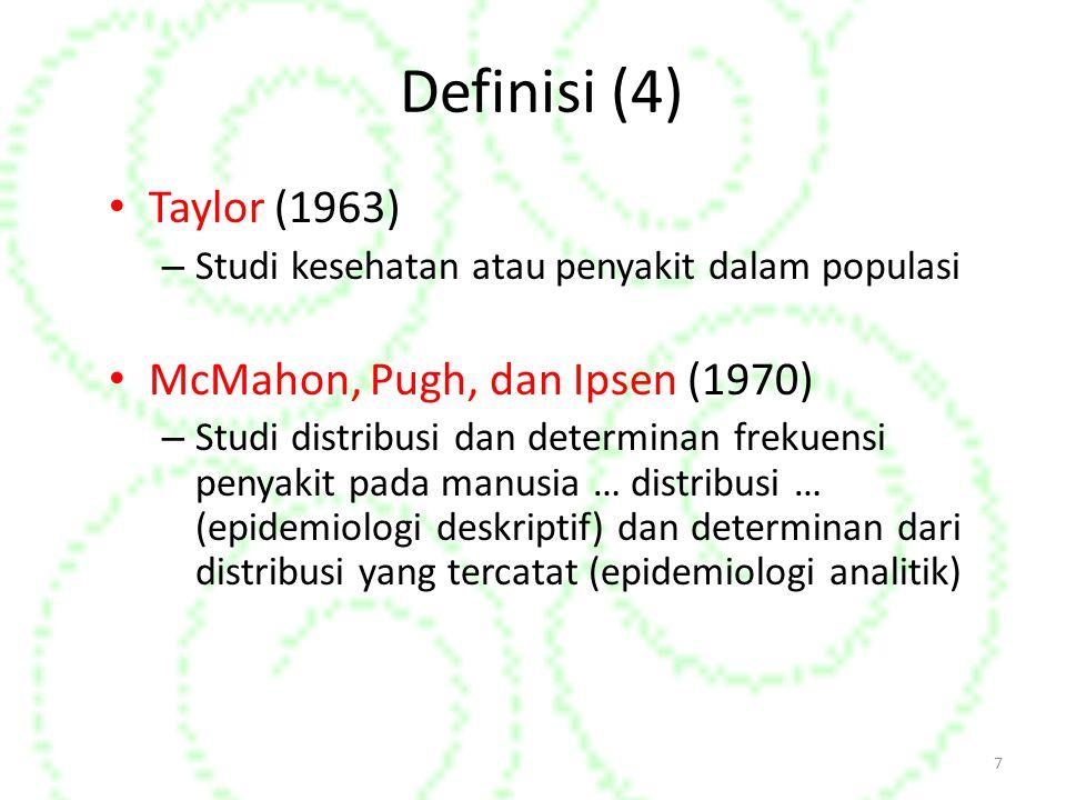 Definisi (4) Taylor (1963) McMahon, Pugh, dan Ipsen (1970)