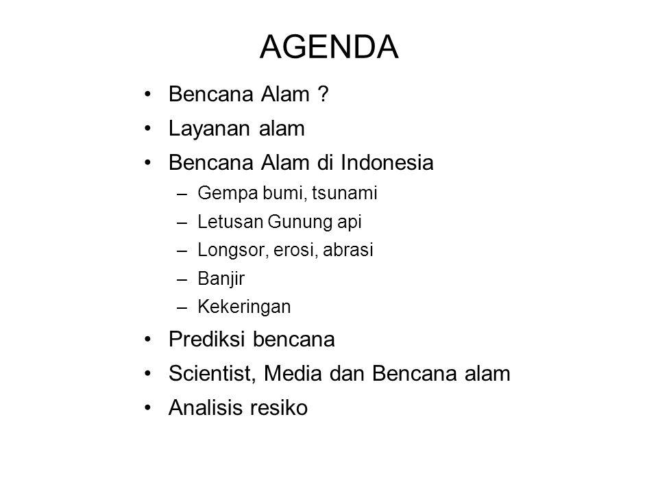 AGENDA Bencana Alam Layanan alam Bencana Alam di Indonesia
