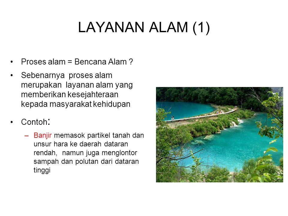 LAYANAN ALAM (1) Proses alam = Bencana Alam