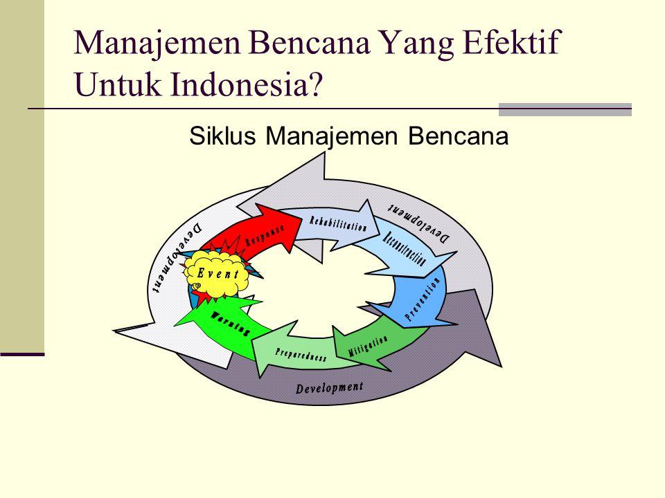 Manajemen Bencana Yang Efektif Untuk Indonesia