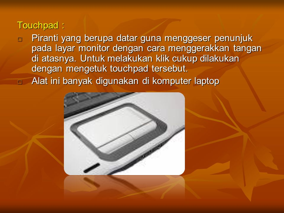 Touchpad :