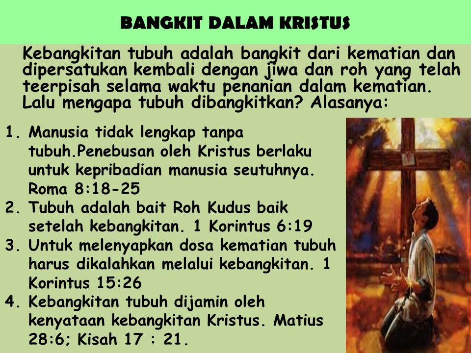 BANGKIT DALAM KRISTUS