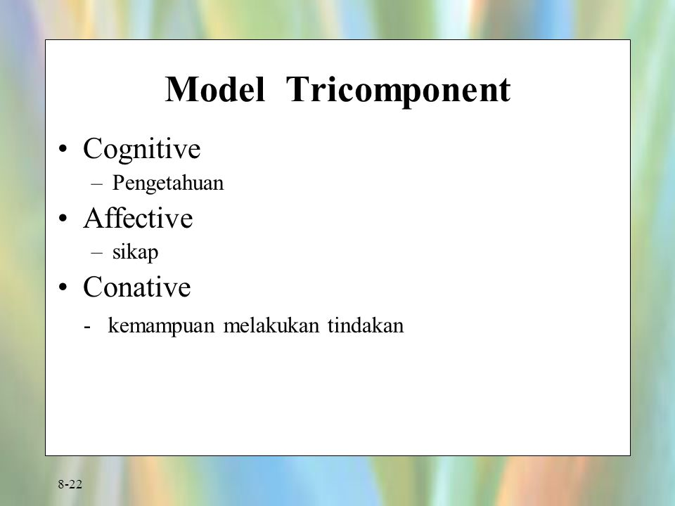 Model Tricomponent Cognitive Affective Conative