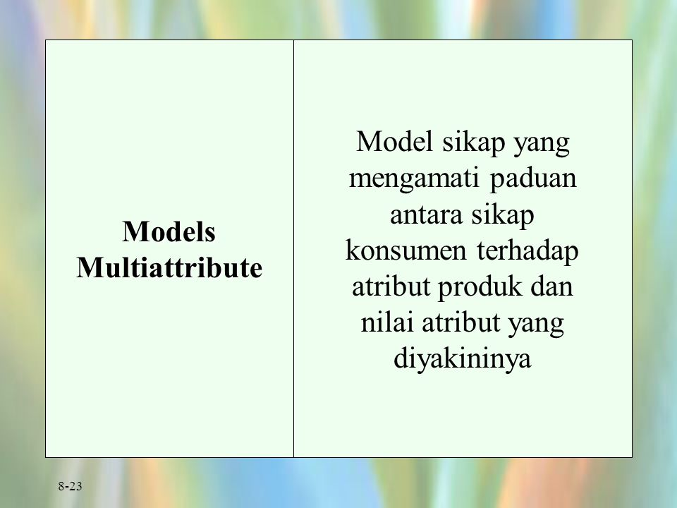 Models Multiattribute