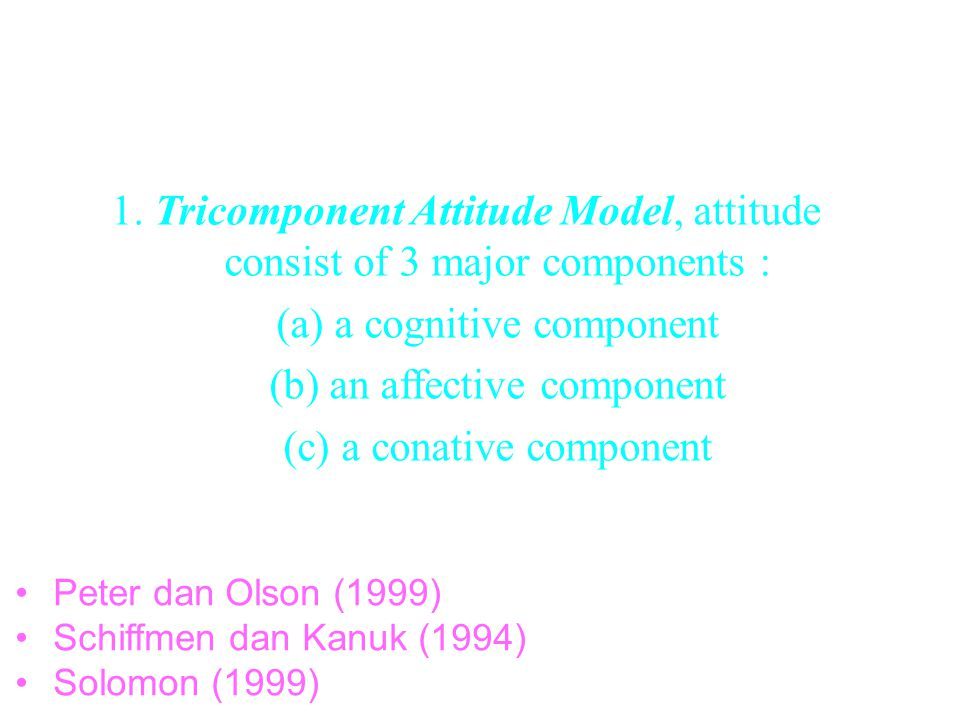 2. STRUCTURAL MODELS OF ATTITUDE