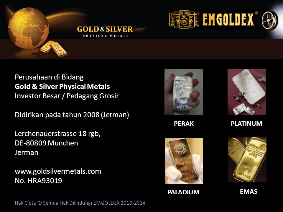 Gold & Silver Physical Metals Investor Besar / Pedagang Grosir