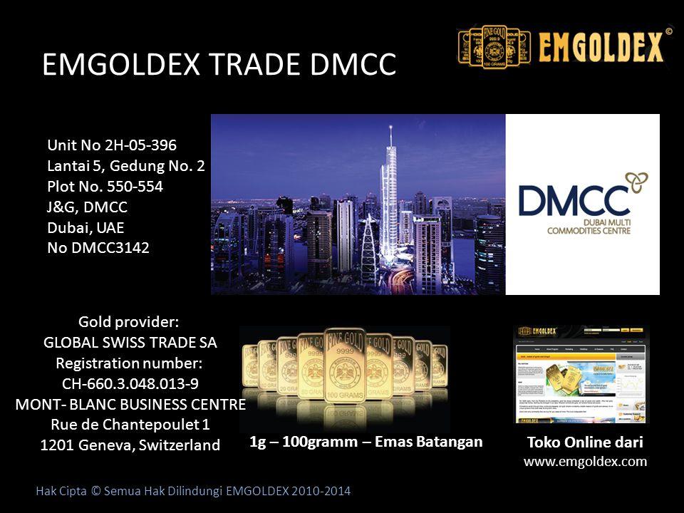 EMGOLDEX TRADE DMCC Unit No 2H-05-396 Lantai 5, Gedung No. 2
