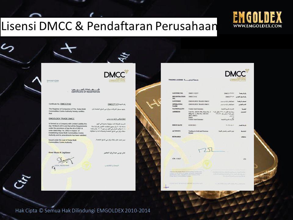 Lisensi DMCC & Pendaftaran Perusahaan