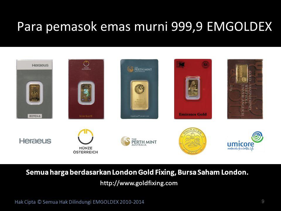 Para pemasok emas murni 999,9 EMGOLDEX