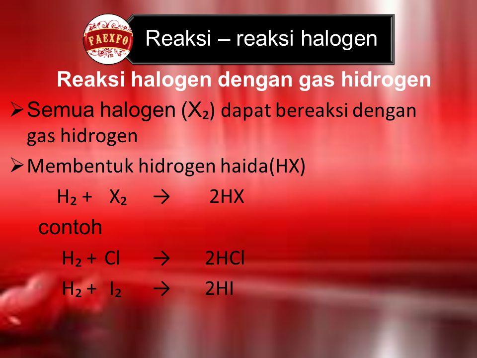 Reaksi – reaksi halogen