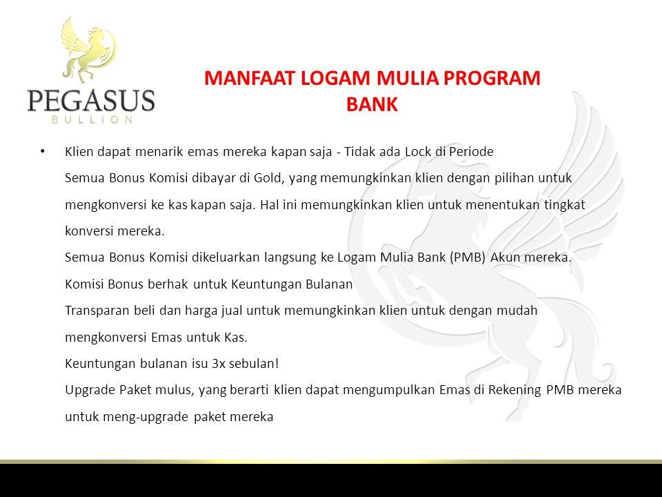 MANFAAT LOGAM MULIA PROGRAM BANK
