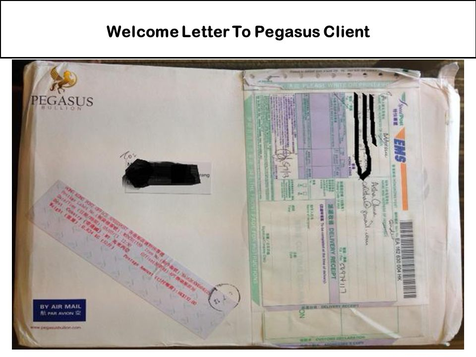 Welcome Letter To Pegasus Client
