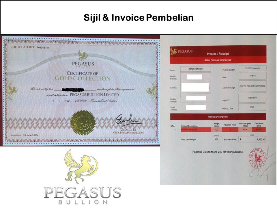 Sijil & Invoice Pembelian