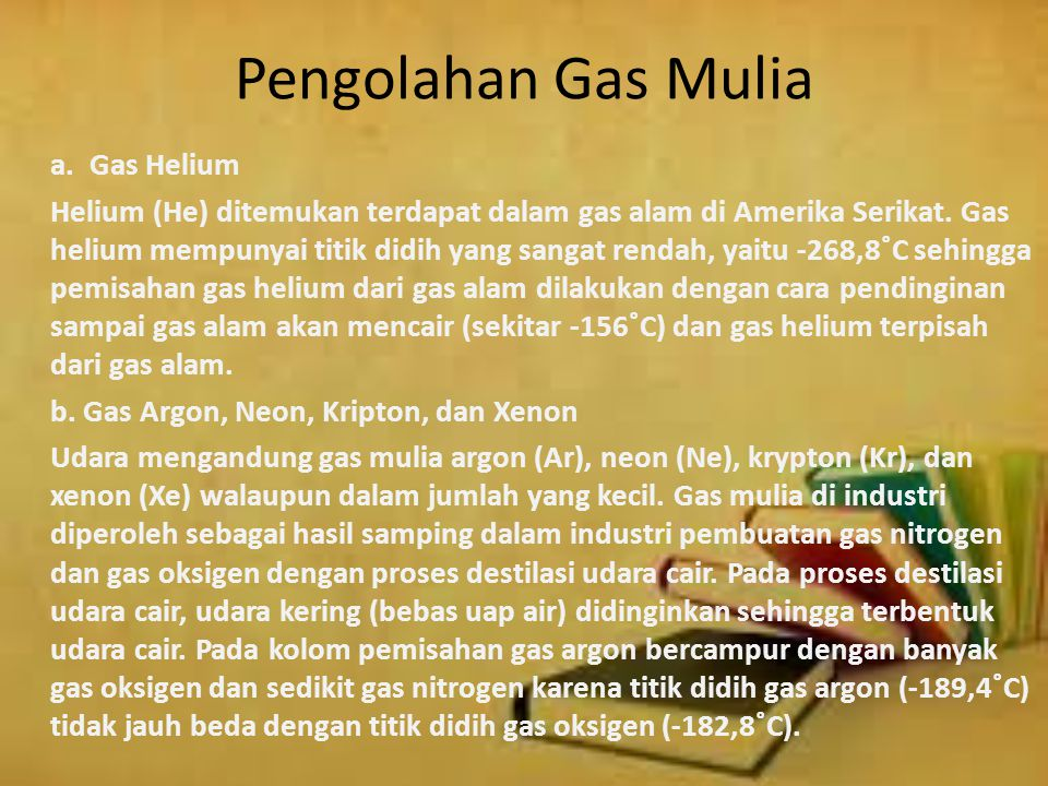 Pengolahan Gas Mulia a. Gas Helium.