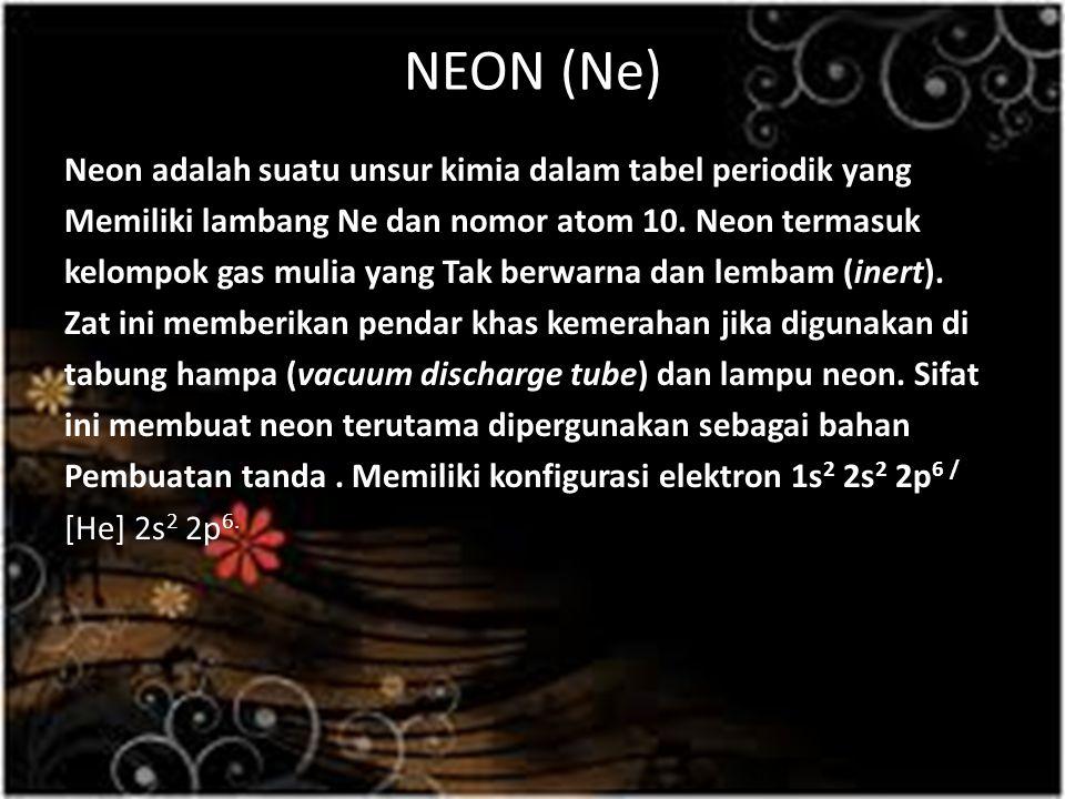 NEON (Ne)