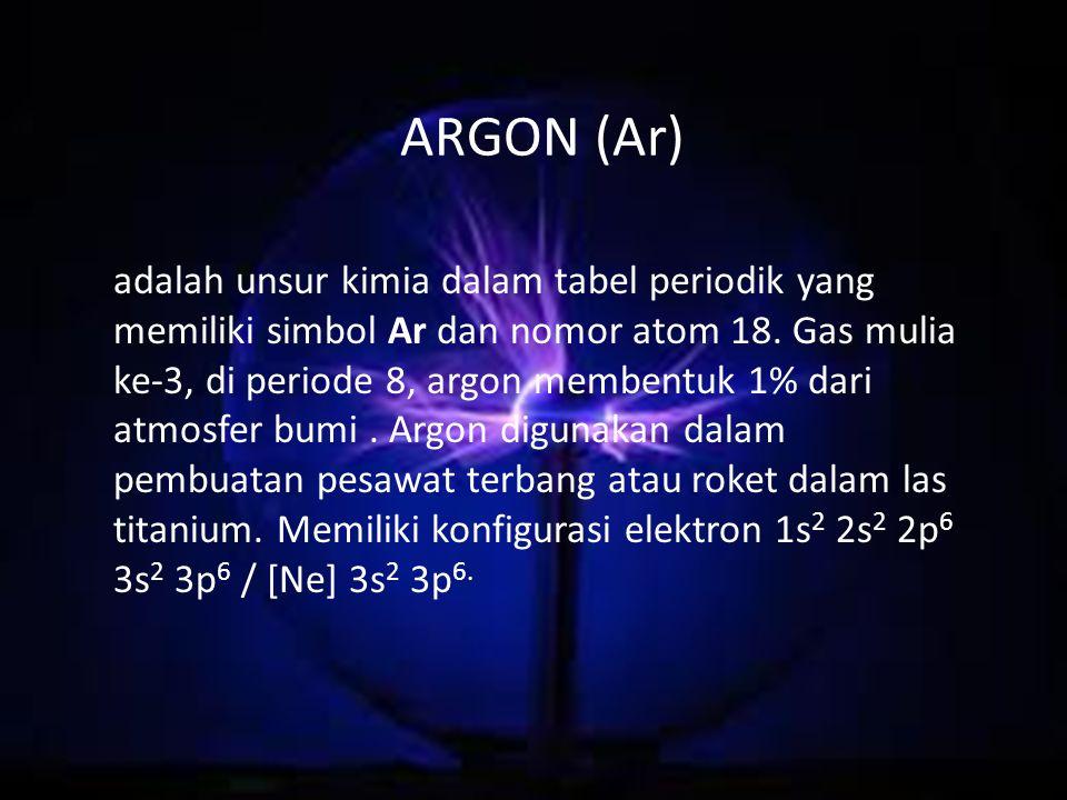 ARGON (Ar)