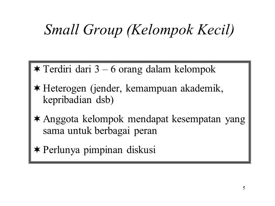Small Group (Kelompok Kecil)