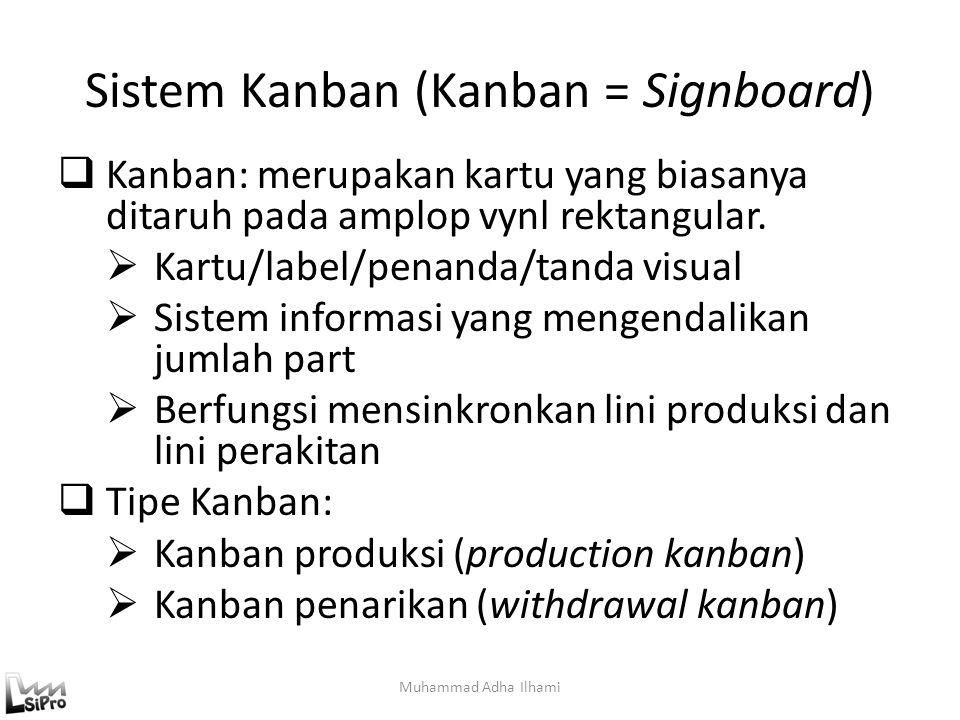 Sistem Kanban (Kanban = Signboard)