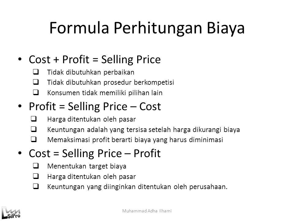Formula Perhitungan Biaya
