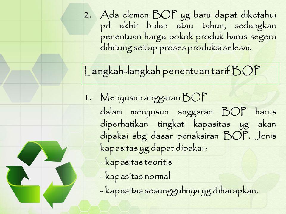 Langkah-langkah penentuan tarif BOP