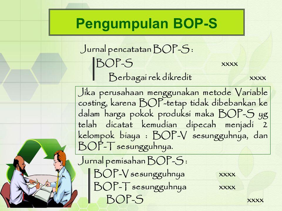 Pengumpulan BOP-S Jurnal pencatatan BOP-S : BOP-S xxxx