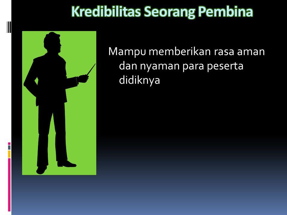 Kredibilitas Seorang Pembina