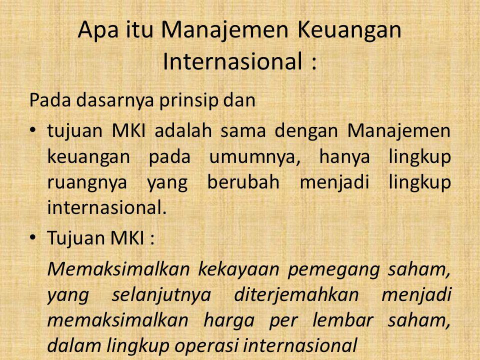 Apa itu Manajemen Keuangan Internasional :