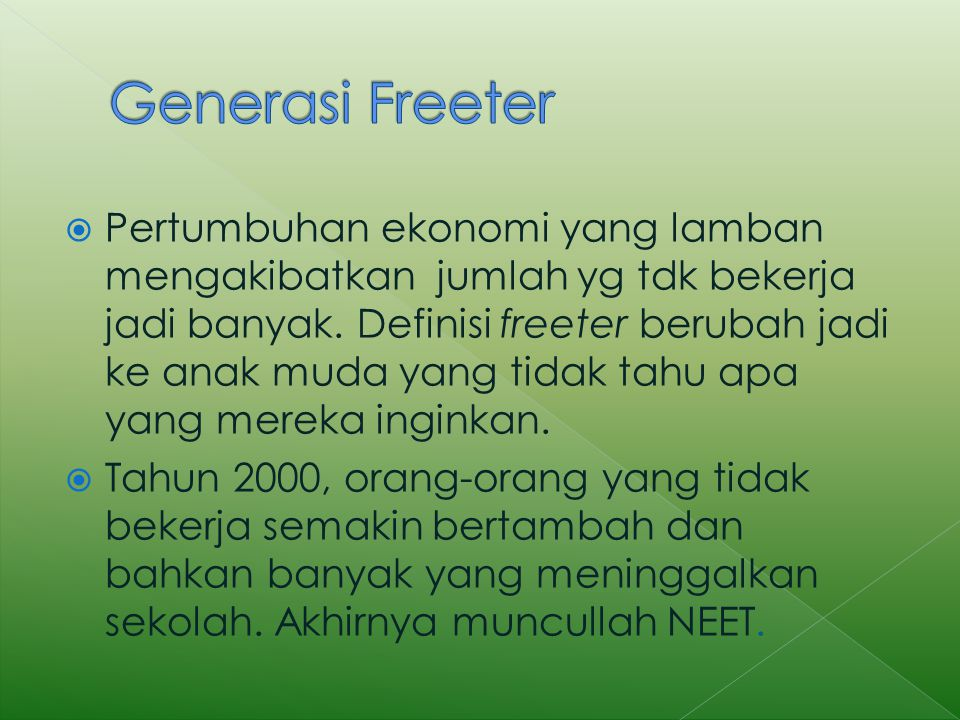 Generasi Freeter
