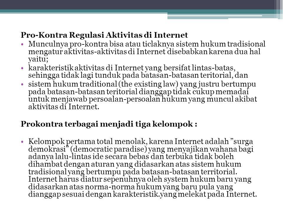 Pro-Kontra Regulasi Aktivitas di Internet