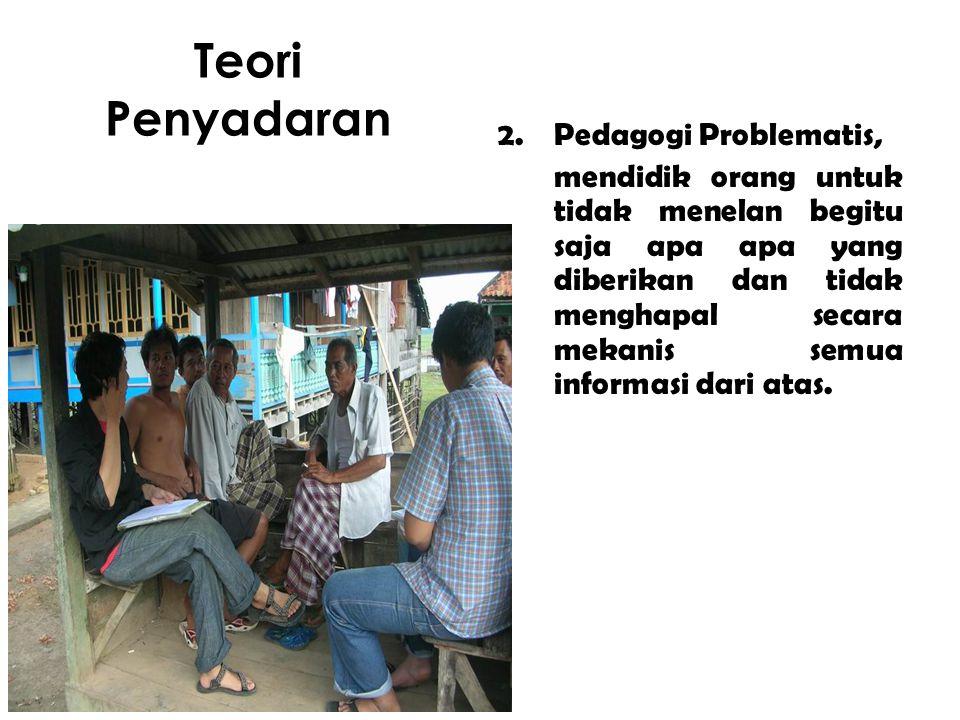 Teori Penyadaran Pedagogi Problematis,