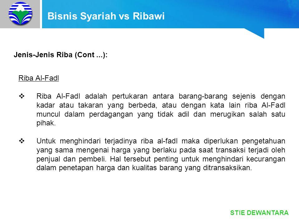 Bisnis Syariah vs Ribawi