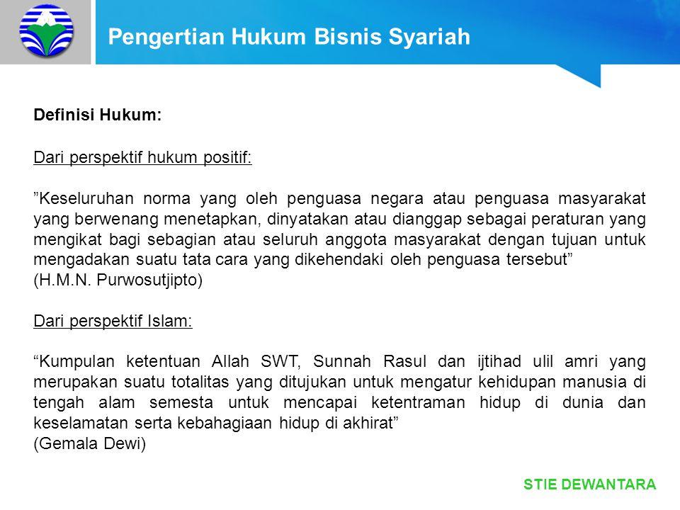 Pengertian Hukum Bisnis Syariah