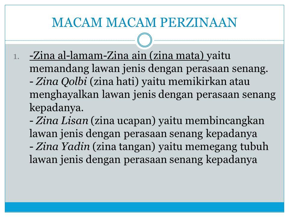 MACAM MACAM PERZINAAN
