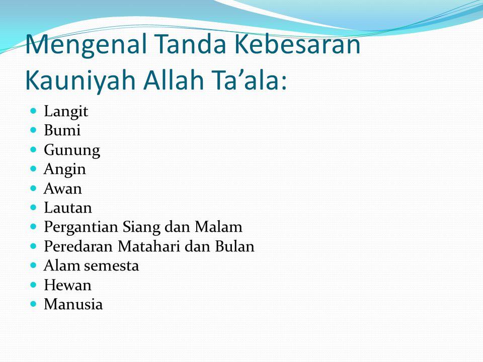 Mengenal Tanda Kebesaran Kauniyah Allah Ta'ala:
