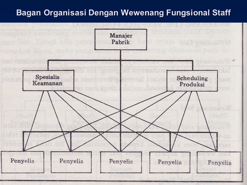 Bagan Organisasi Dengan Wewenang Fungsional Staff