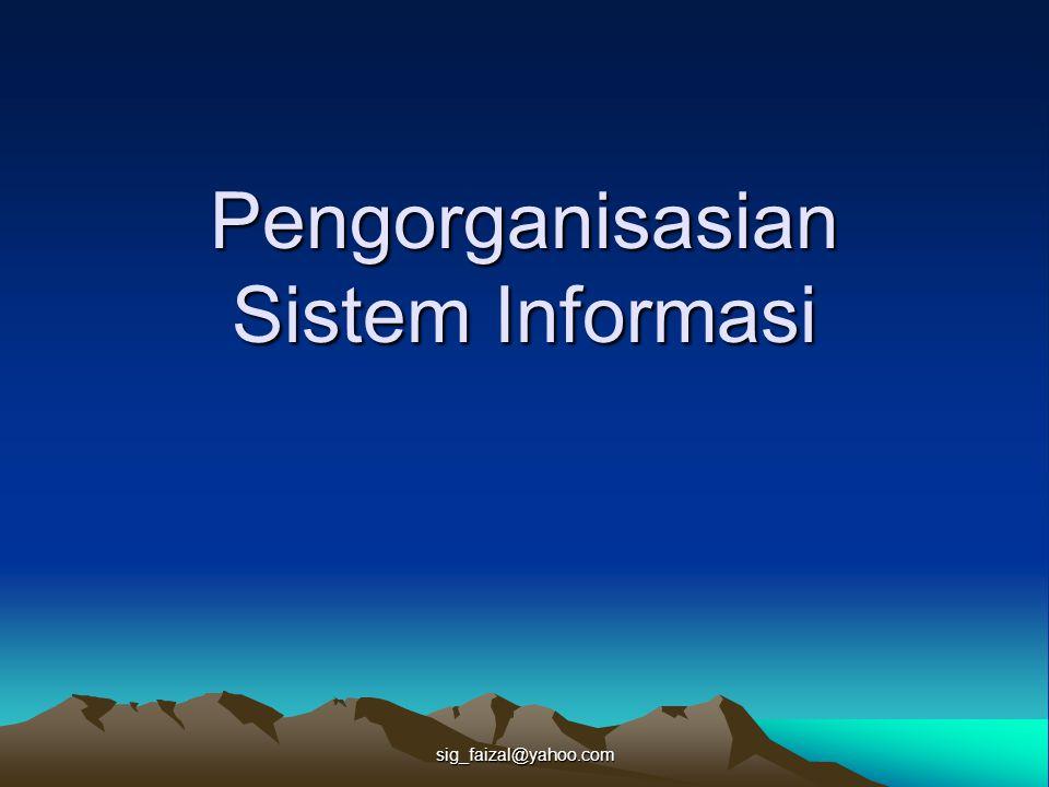 Pengorganisasian Sistem Informasi