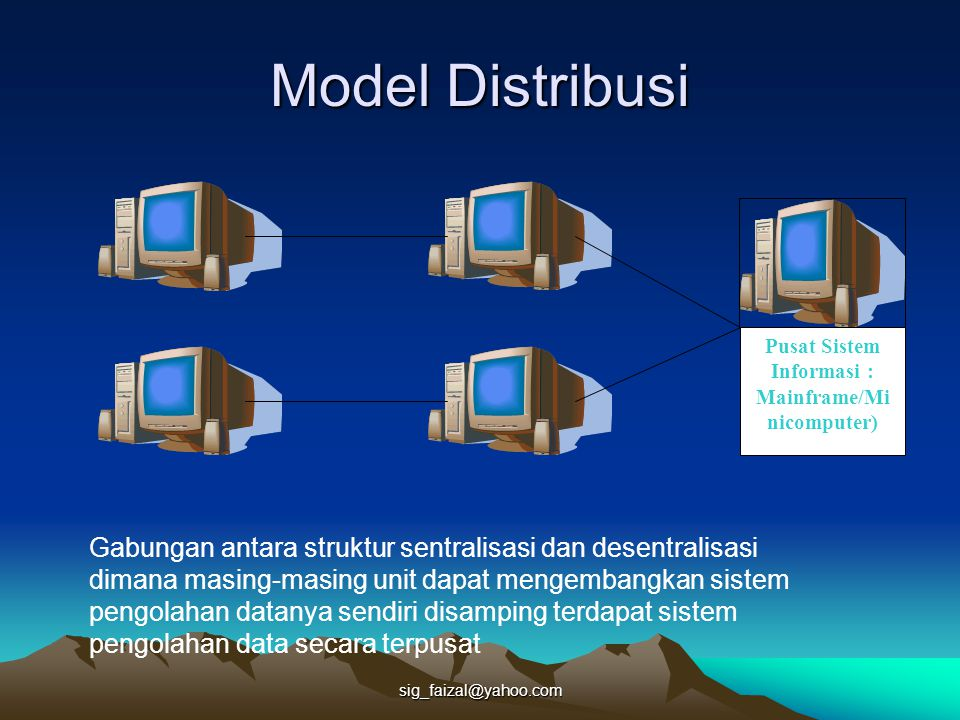 Pusat Sistem Informasi : Mainframe/Minicomputer)