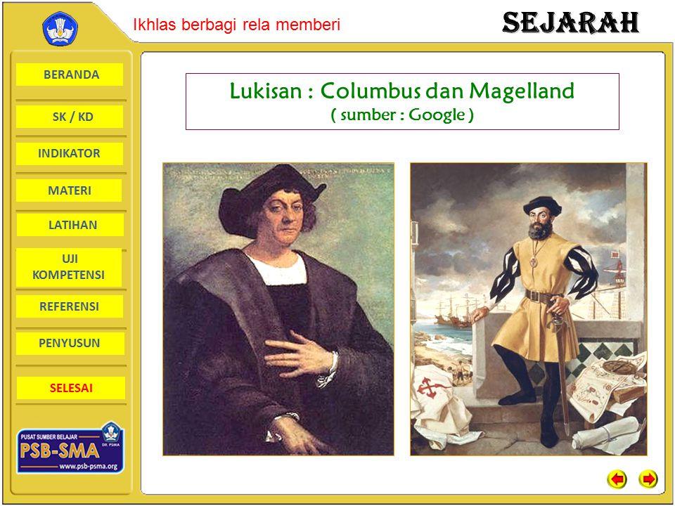 Lukisan : Columbus dan Magelland ( sumber : Google )