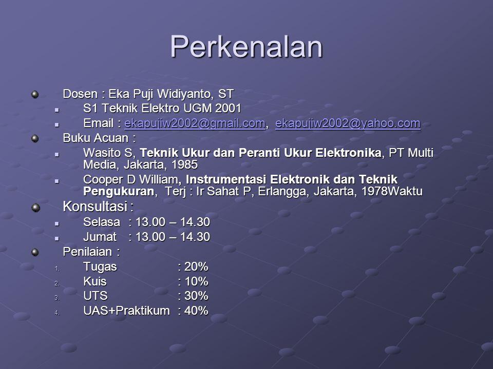 Perkenalan Konsultasi : Dosen : Eka Puji Widiyanto, ST