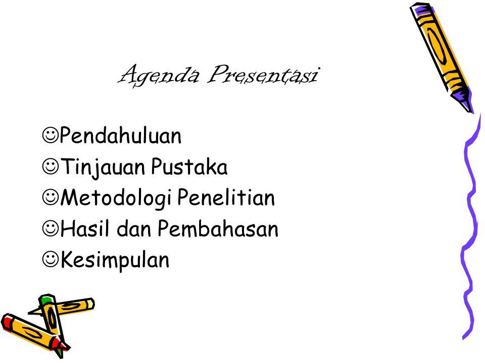 Agenda Presentasi Pendahuluan Tinjauan Pustaka Metodologi Penelitian