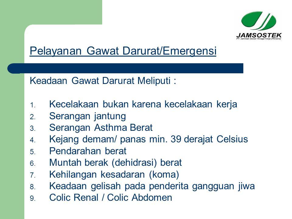 Pelayanan Gawat Darurat/Emergensi