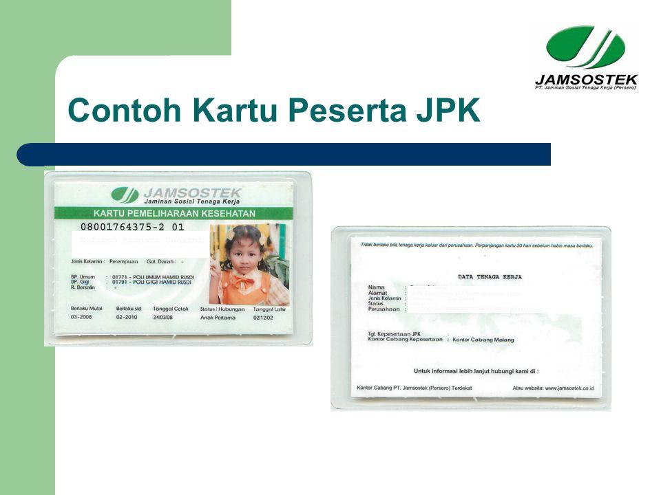 Contoh Kartu Peserta JPK