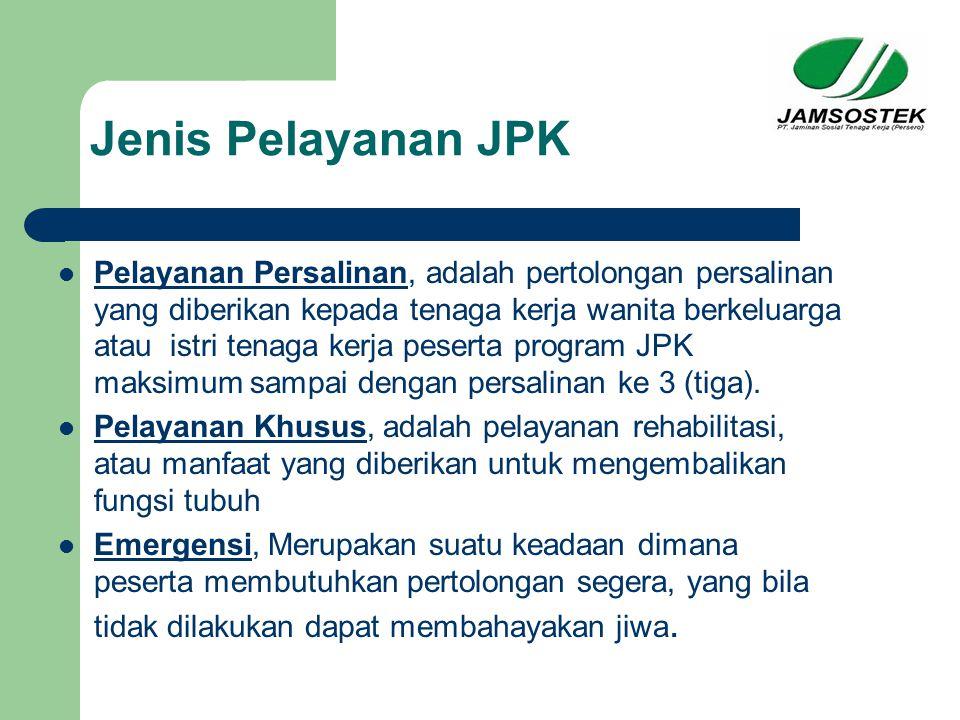 Jenis Pelayanan JPK