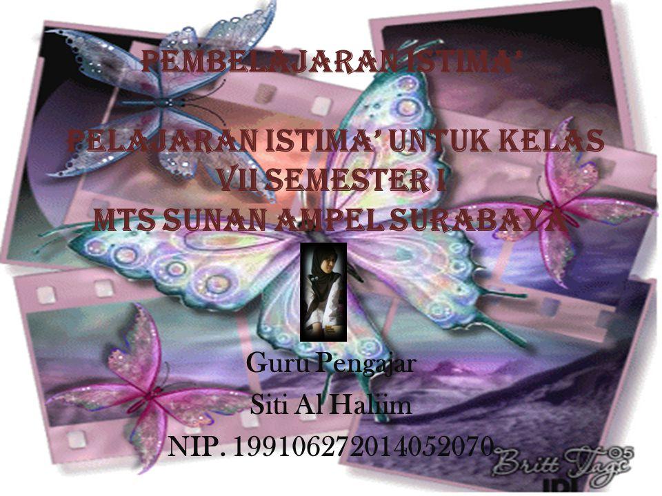 Guru Pengajar Siti Al Haliim NIP. 199106272014052070