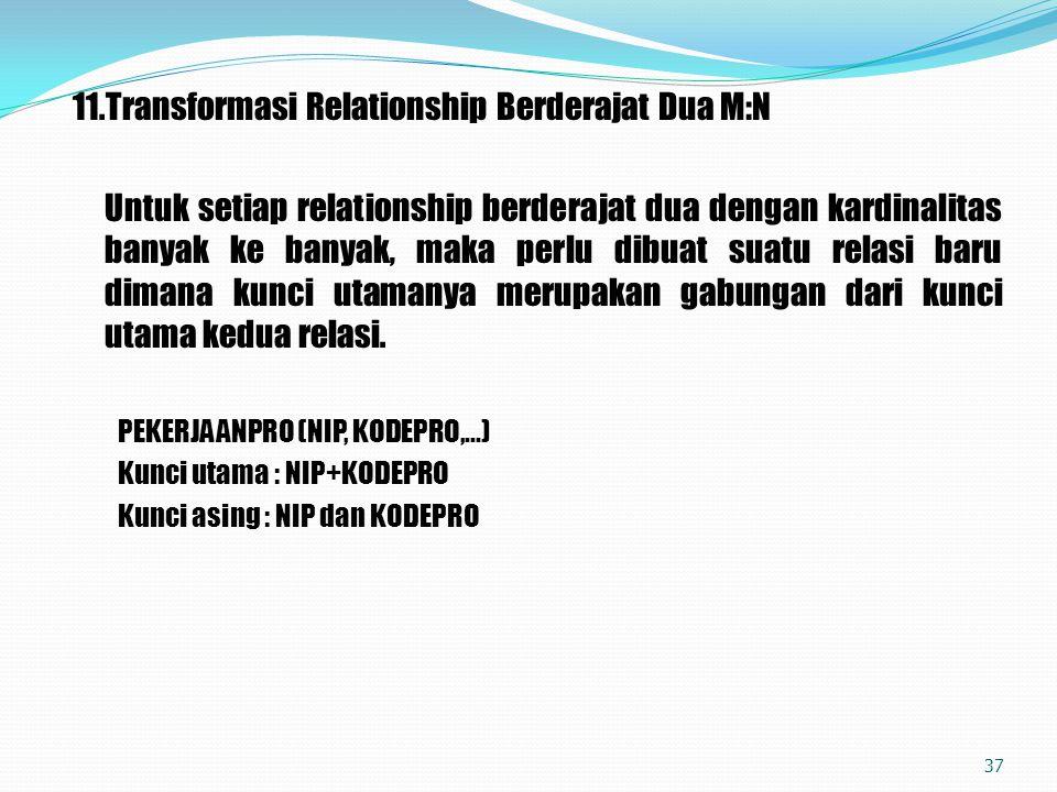 11.Transformasi Relationship Berderajat Dua M:N