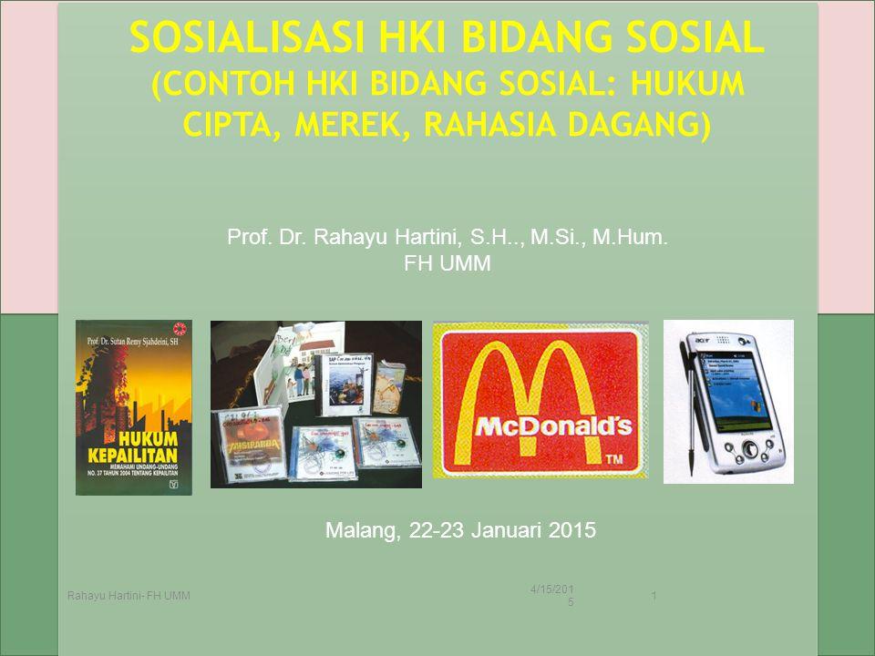 Prof. Dr. Rahayu Hartini, S.H.., M.Si., M.Hum.