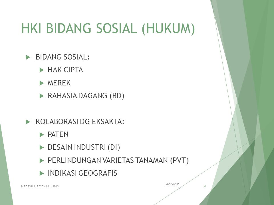 HKI BIDANG SOSIAL (HUKUM)